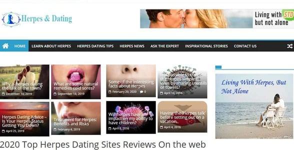 Screenshot of HerpesNDating.com