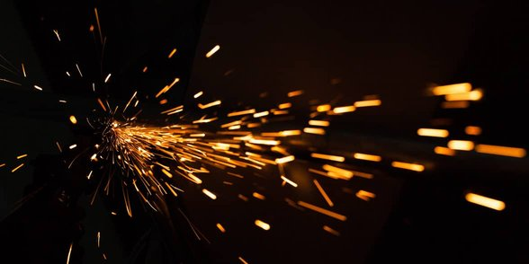 Photo of a spark