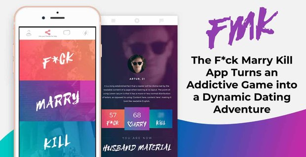 The Fck Marry Kill Dating App Is A Dynamic Dating Adventure