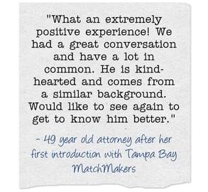 Tampa Bay MatchMakers testimonial