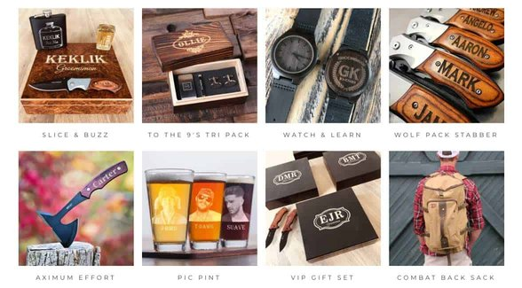 Screenshot of Groovy Groomsmen Gifts products