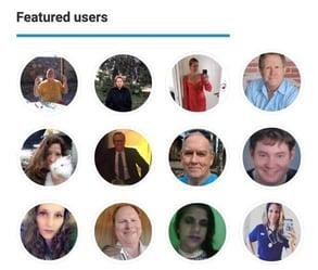 Screenshot of TrueLDS featured users