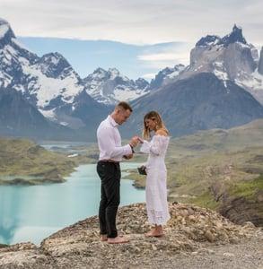 Photo of a wedding ceremony