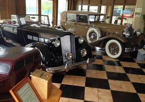 Photo of Packard exhibit