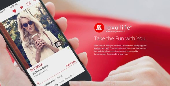 Screenshot of Lavalife