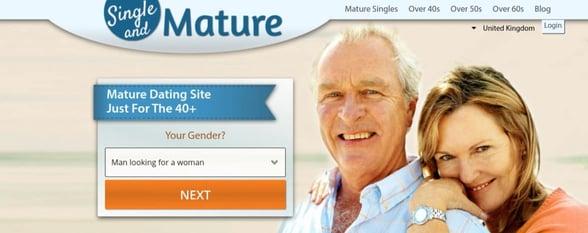 Screenshot of SingleAndMature.com