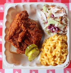Photo of an HTC fried chicken meal