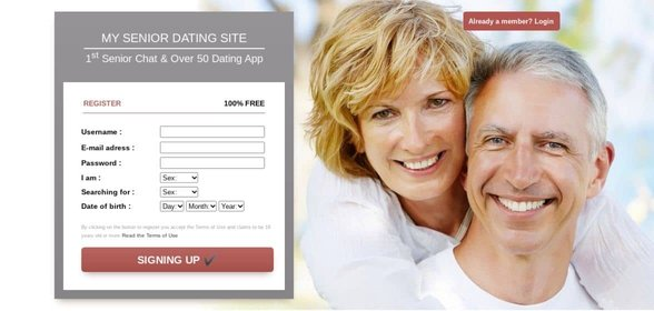 Screenshot of MySeniorDatingSite