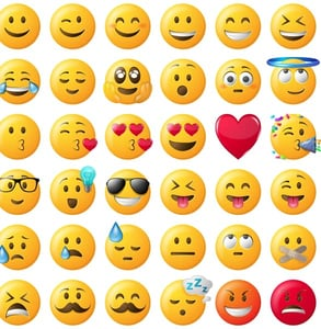 Photo of emoticons