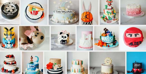 Photos of Lark's custom cakes
