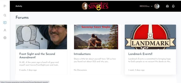 Screenshot of the forum