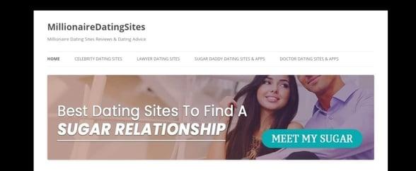 Screenshot of MillionaireDatingSites.com