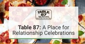 Table 87 Restaurant Provides a Fun Atmosphere for Relationship Celebrations