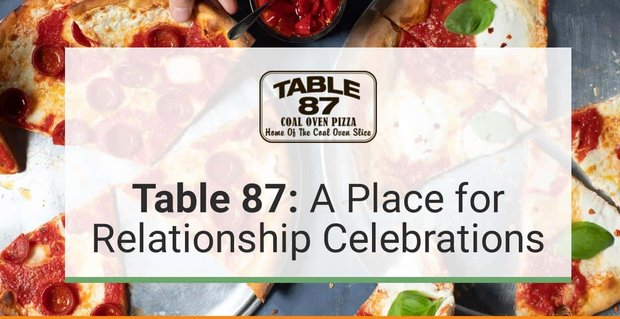 Table 87 Restaurant Provides A Fun Atmosphere