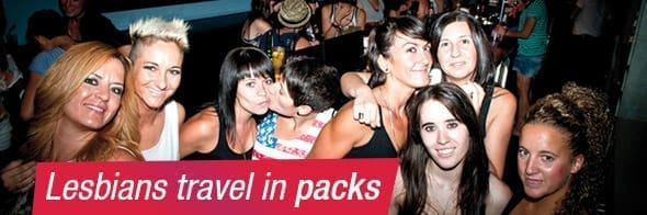3. Lesbians travel in packs