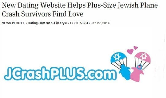 New Dating Website Helps Plus-Size Jewish Plane Crash Survivors Find Love
