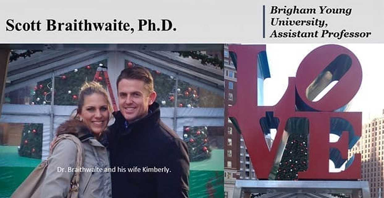 Dr. Scott Braithwaite: Creator of the Go-To Online Relationship Program