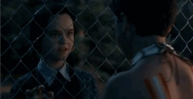 "10. Wednesday Addams and Joel Glicker — ""Addams Family Values"""