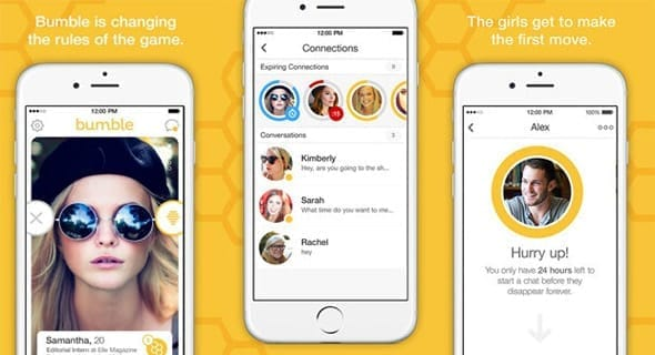 Screenshot of Bumble's homepage
