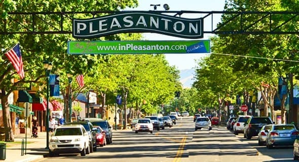 14. Pleasanton, California — 31,126 singles