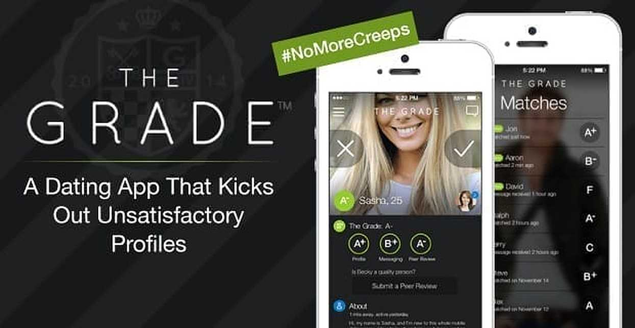The Grade: A Dating App That Kicks Out Unsatisfactory Profiles