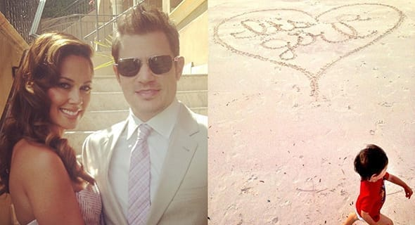 Vanessa Lachey & The Sand Drawing
