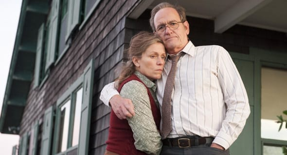 Photo of Peter Jenkins and Frances McDormand from Olive Kitteridge