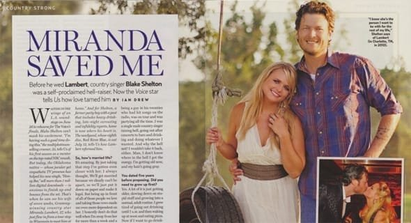 Photo of Blake Shelton and Miranda Lambert