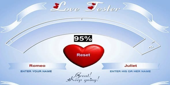 Photo of Love Tester game