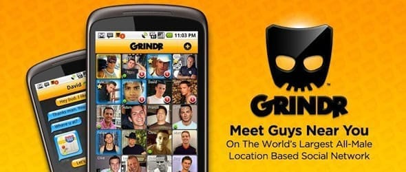 Photo of Grindr's app