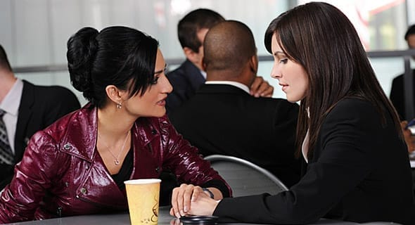 Photo of Kalinda and Lana from The Good Wife talking