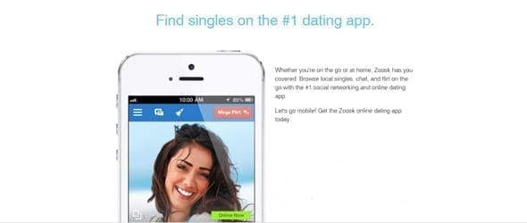 Photo of Zoosk's app