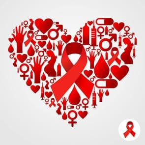 HIV/AIDS heart logo