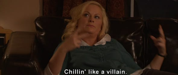 Photo of Leslie Knope chillin'
