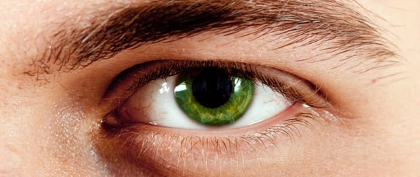 Photo of dilated pupils