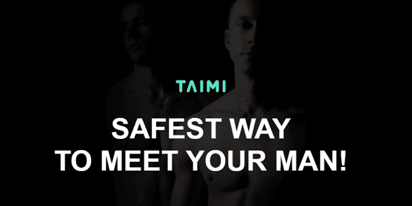 Screenshot of the Taimi homepage