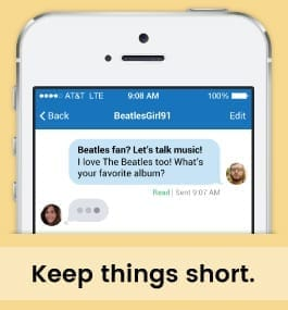 Example Message Of Keeping It Short