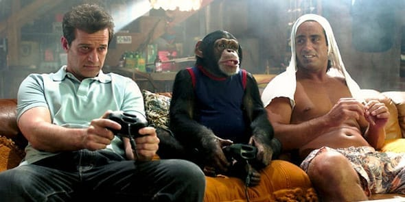 Photo of men playing video games