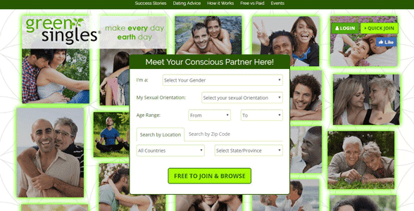 Screenshot of GreenSingles