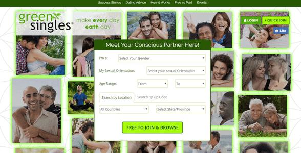 Screenshot of GreenSingles