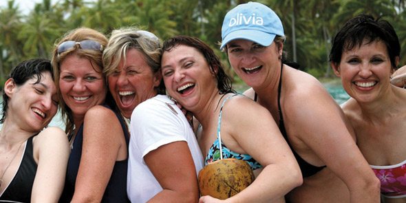 Photo of lesbian singles on an Olivia cruise