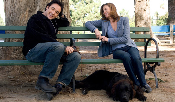 Photo of couple in a dog park