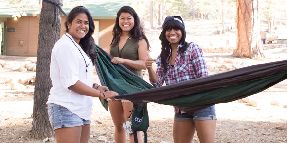 Photo of A-Camp's diverse campers