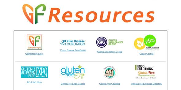 Screenshot of GlutenFreeSingles.com resources page