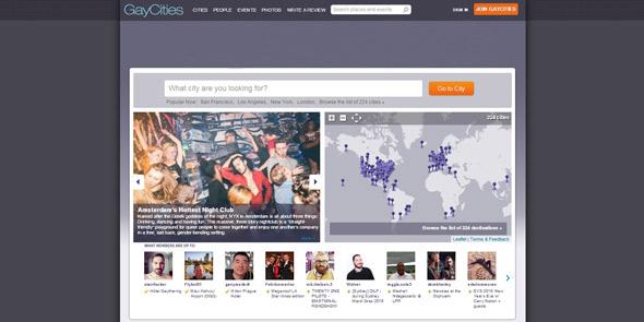 Screenshot of GayCities.com