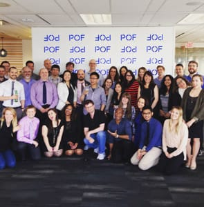 Photo of POF team