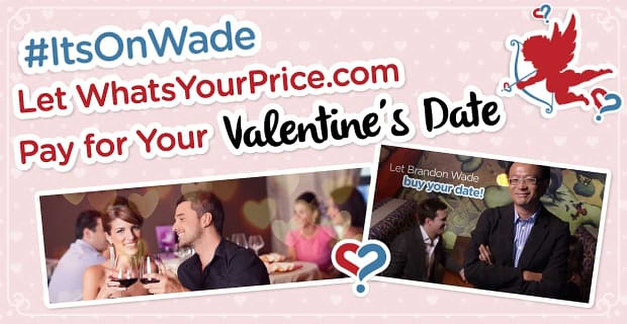 #ItsOnWade: Let WhatsYourPrice.com Pay for Your Valentine's Date