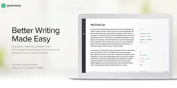 Screenshot of the Grammarly.com homepage
