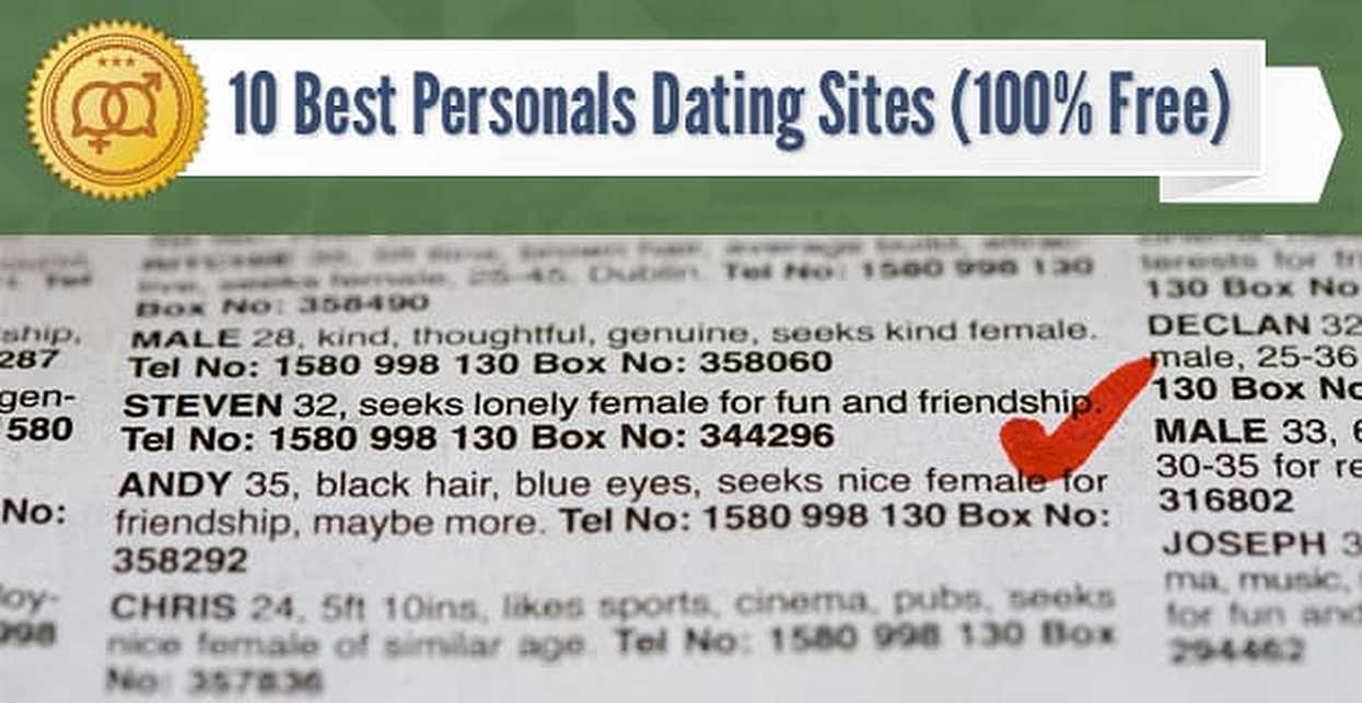 10 Best Personals Dating Sites (100% Free)