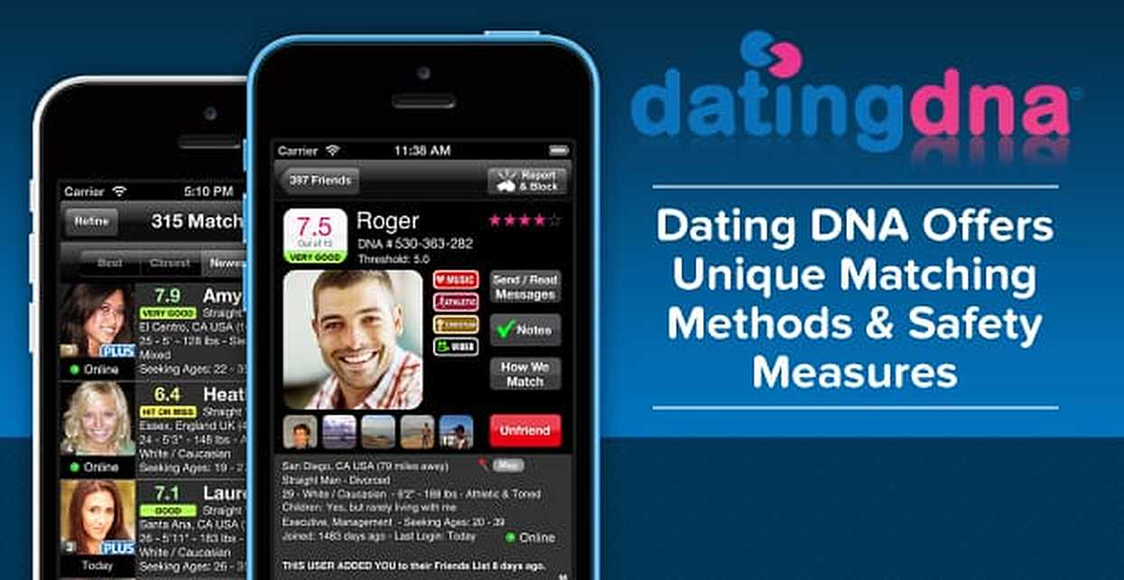 Dating DNA — The Original Free iPhone Dating App — Offers Unique Matching Methods & Safety Measures